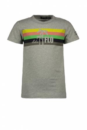 Flo boys tee with rainbow logo